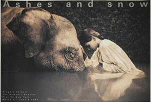 『Ashes and snow girl with elephant』  グレゴリー・コルベール(Gregory Colbert) | ポスター通販のアズポスター
